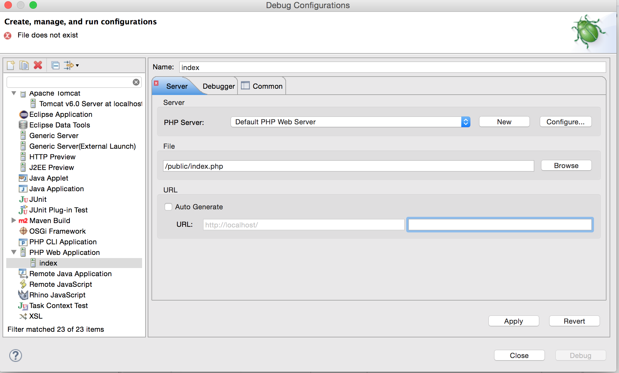 Configure XDebug Extension for PHP on Eclipse – 5 Balloons