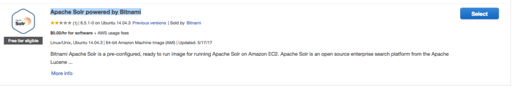 Creating New Bitnami Solr Instance on AWS  – 5 Balloons