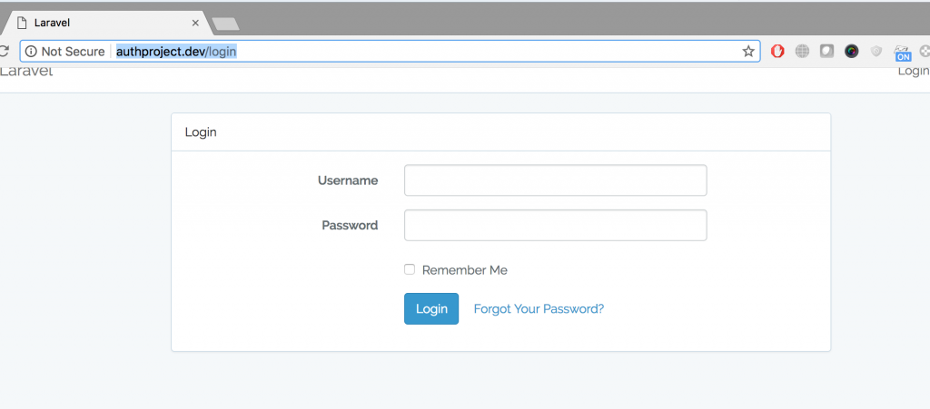 Customizating Laravel Authentication to login via username instead