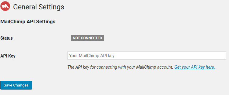 mailchimp not connect to wordpress account.