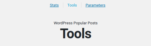 Wordpress popular plugin options stats tools etc.