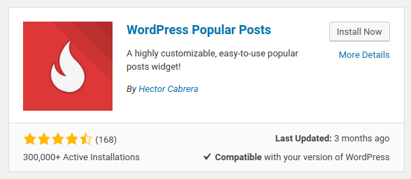 wordpress popular posts plugin