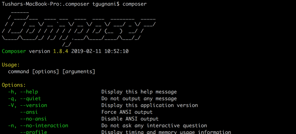 Simple Illustrative Tutorial to Install Composer on Mac (OS