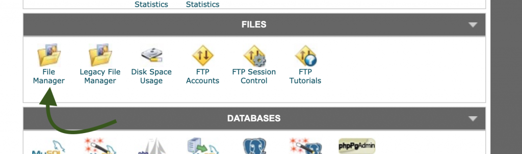 File Manager cPanel SiteGround