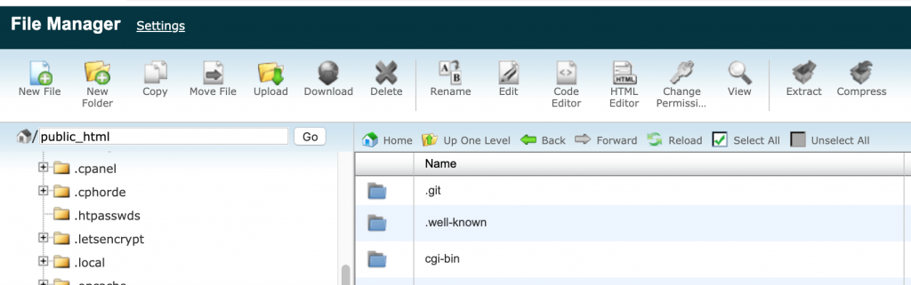Siteground File Manager Document Root