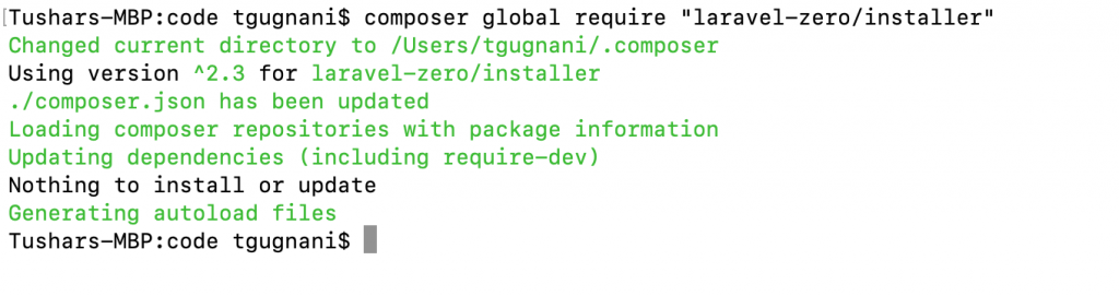 "composer global require ""laravel-zero/installer"""