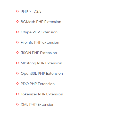 laravel php module requirements